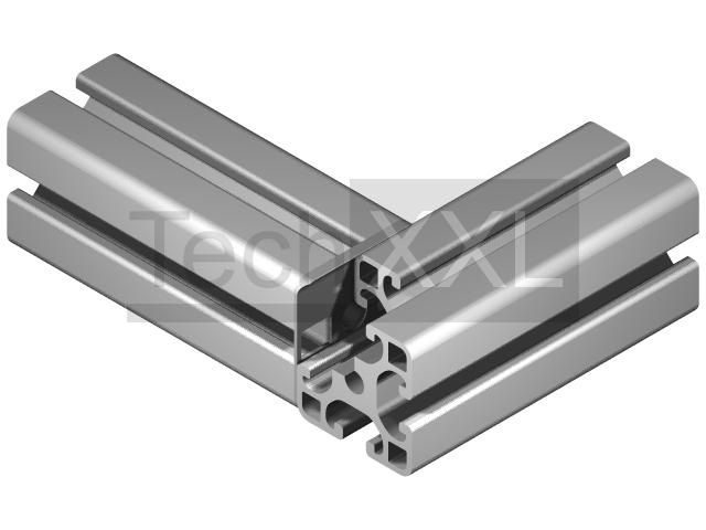 Radius seal 8 40x40 grey